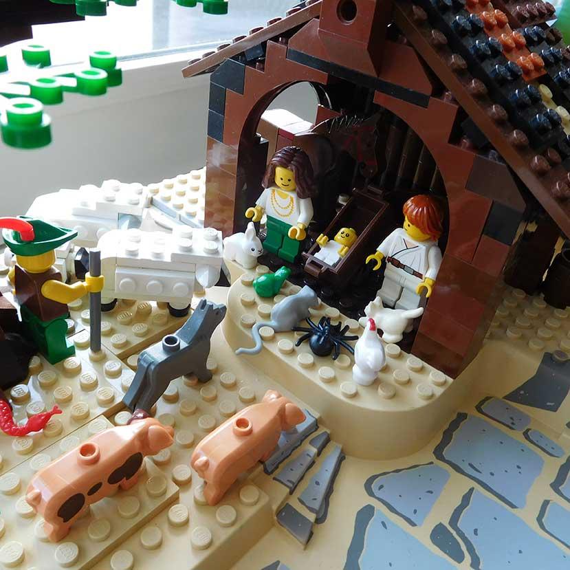 レゴで作った馬小屋1