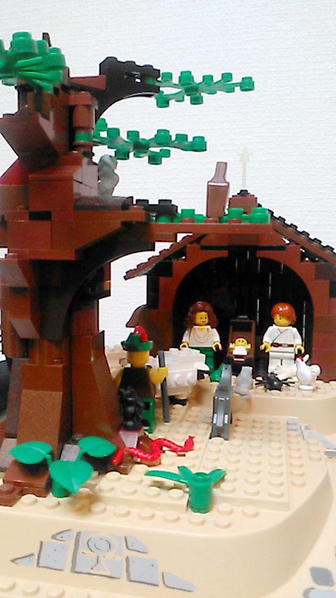 レゴで作った馬小屋3